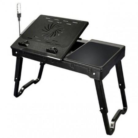 Table de PC Portable Réglable avec Ventilateur de Refroidissement Intégré usb