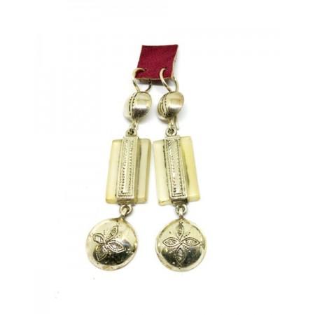 Bijoux boucle d'oreille en argent