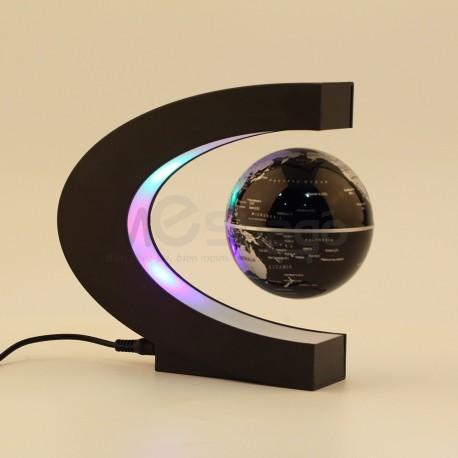 Globe Terrestre Carte du monde Magnétique Levitation Flottant avec LED Coloré Lampe Or